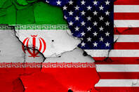Flags of US and Iran