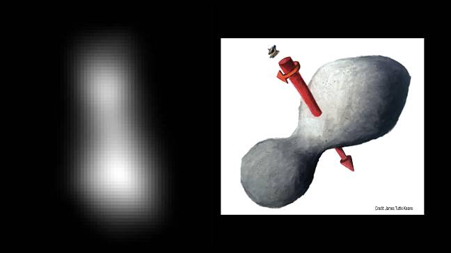 First close-up images of Ultima Thule reveal it resembles reddish snowman