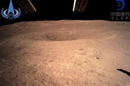 China National Space Administration photo from Chang'e 4 on the far side of the Moon