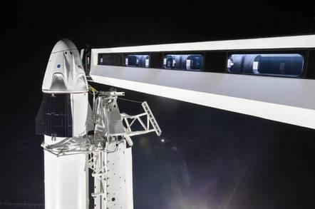 SpaceX Crew Dragon access arm