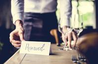Restaurant table reserved