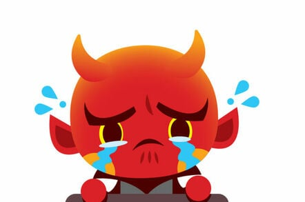 demon devil crying