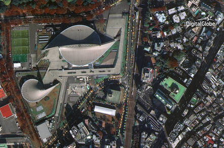 WorldView-4's first image, Tokyo