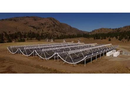 CHIME radio telescope
