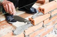 builder does the wet cement work on brick wall.. trump shutdown