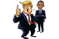 Turmp and Obama illustration