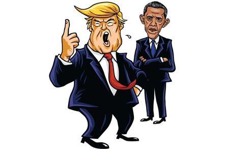 Turmp and Obama illustration