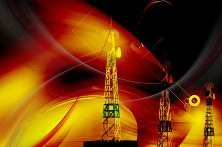 Digital illustration of an antenna sending signals to a mobile- Illustration