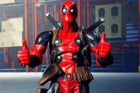 A Deadpool action figure from Shutterstock