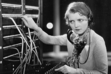 Woman at switchboard