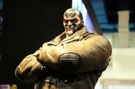Fiction supervillain action figure character of Bane from DC movies and comic. Pic: Aisyaqilumaranas / Shutterstock.com