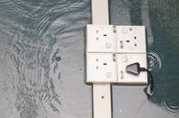 Plug sockets under water