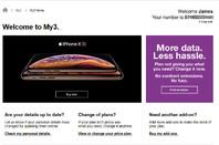 Three UK data breach screenshot of other customer's details
