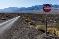 Do Not Enter sign in open landscape