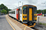 Abellio Greater Anglia Class 153 306 single unit DMU IN Gainsborough heritage line ( by the linkup at Marks Tey in Essex with the Great Eastern Mainline)