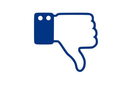 thumbs down facebook