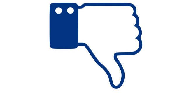thumbs down facebook