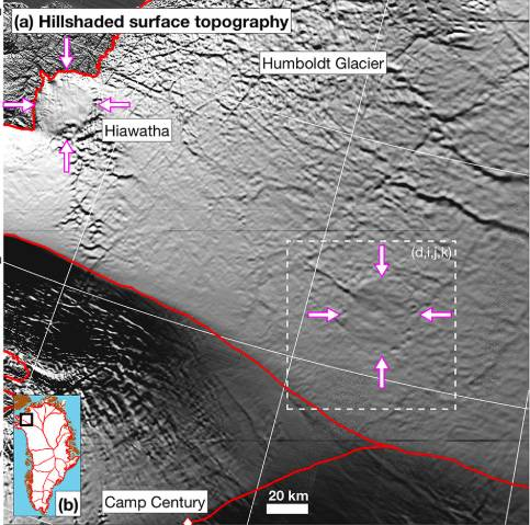 New Research Finds Possible Second Impact Crater Hiding Under Greenland Ice
