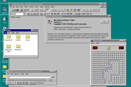 Windows 95 JavaScript