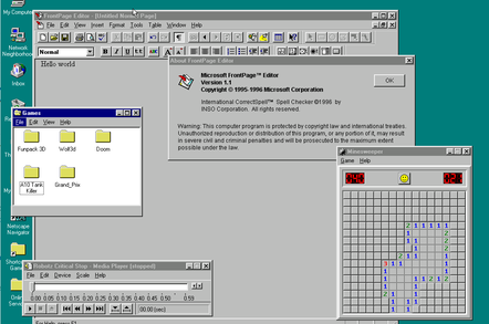 Windows 95 JavaScript