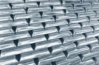 A pile of platinum or silver bars