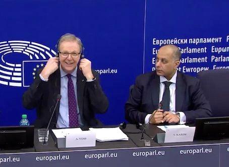 Axel Voss, Sajjad Karim MEPs