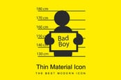 bad icon boy - black on yellow deisgn