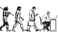 Theory of evolution of man into programmer