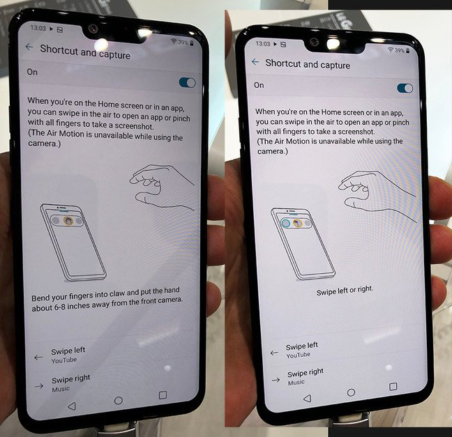 LG AirMotion UI