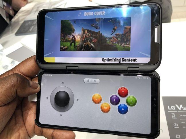 LG dual display accessory