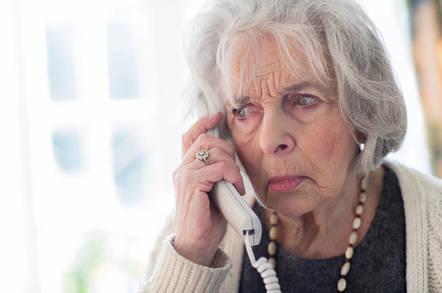 elderly woman fields nuisance call