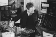 Harry Fensom working on ERNIE 1