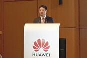 Huawei rotating chairman Ken Hu in Brussels