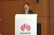 Huawei rotating chairman Ken Hu in Brussels