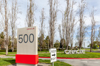 Oracle at headquarters in Silicon Valley, CA,