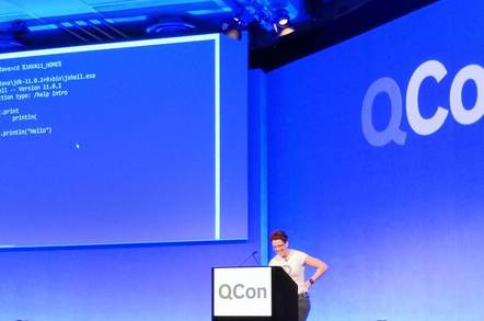 Trisha Gee demonstrates Java 11 features at QCon London - but most developers still use Java 8