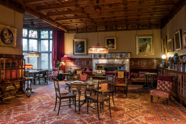 Cragside library photo courtesy National Trust