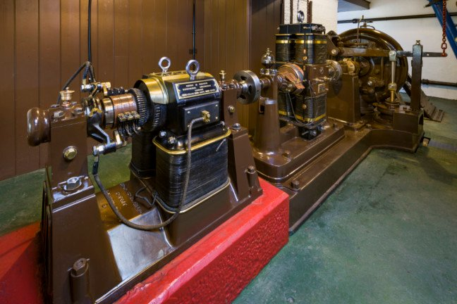 Inside the power house photo by National Trust