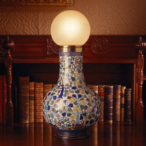 Library electric light, photo courtesy: National_Trust