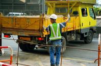 dump truck reversing