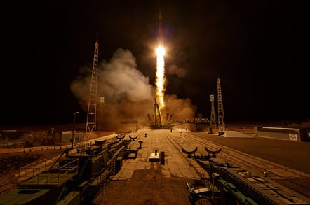 Soyuz MS-12 Launch (credit: NASA/Bill Ingalls)