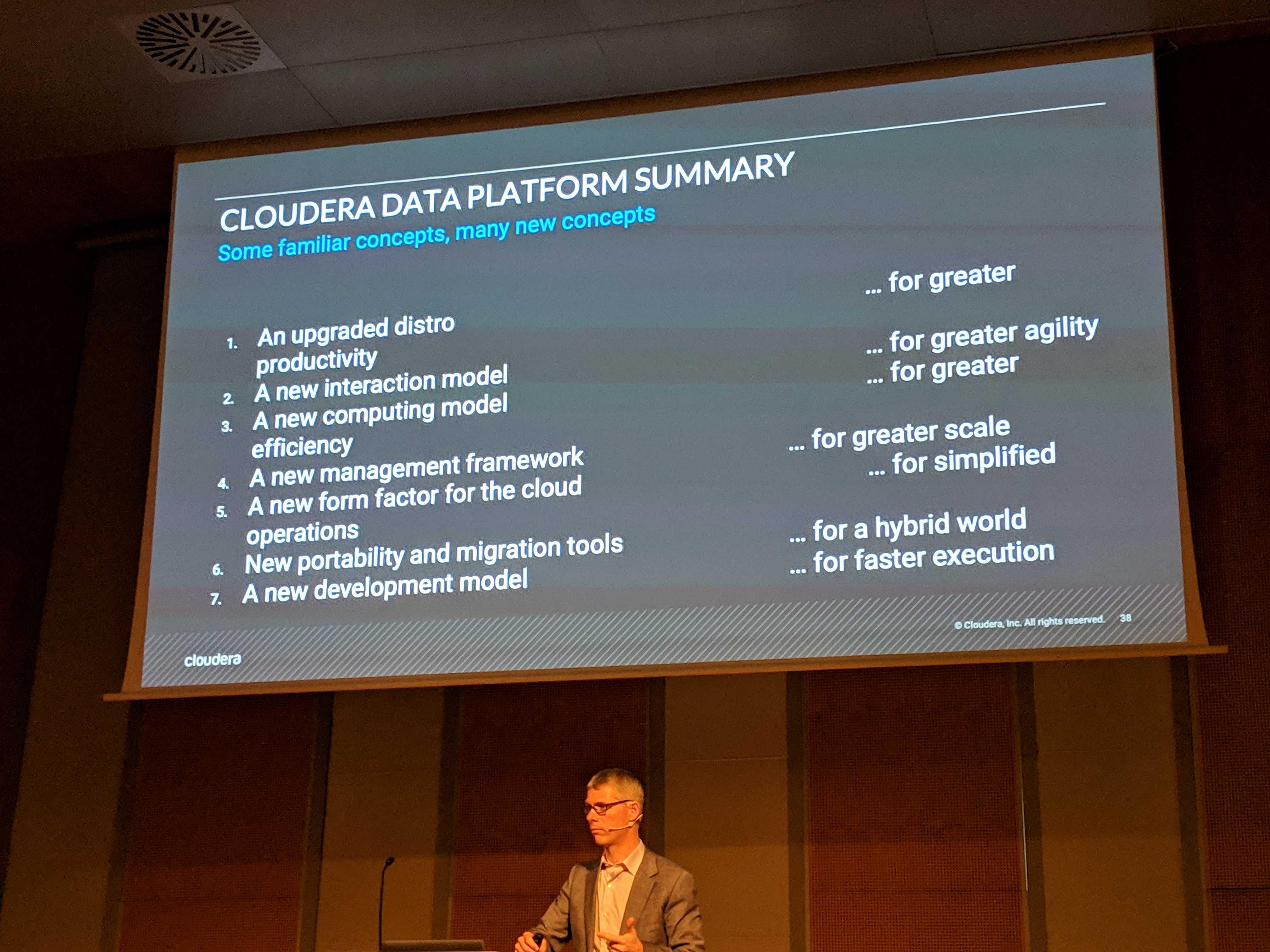 Koopmans presenting at Cloudera DataWorks 2019