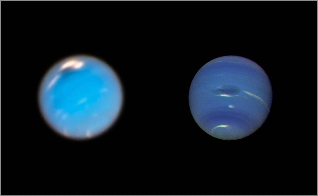 Hubble Documents Gigantic Storm As It Forms On Neptune
