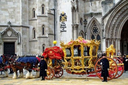the royal court of justice pictured during the Mayor Parade on November 14th, 2014, in London. Also called the Law Courts, it was built in 1870 and opened by Queen Victoria in 1882