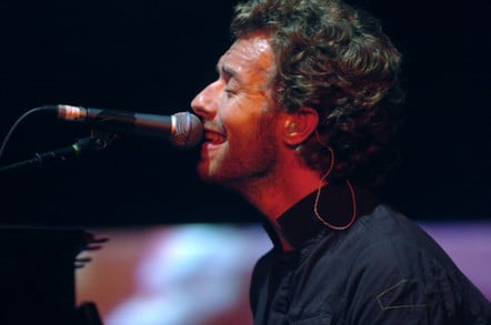 Coldplay's Chris Martin sings in concert in milan, italy
