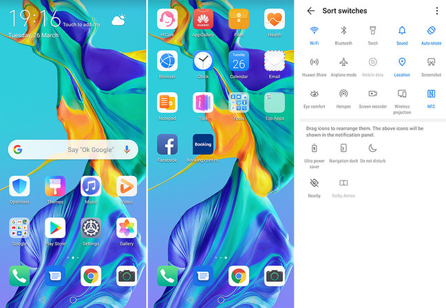 Huawei P30 Pro Home Screens