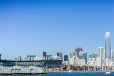 Salesforce Tower and Oracle Park, SF