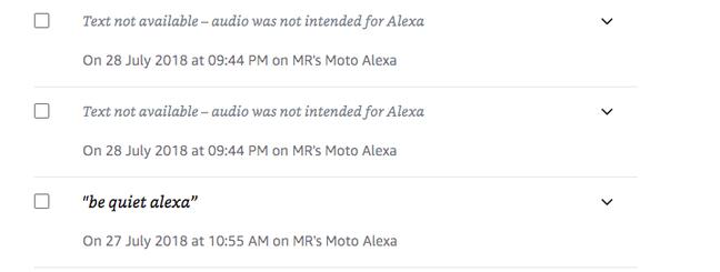 Alexa data retained