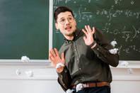 maths teacher dodges paper balls