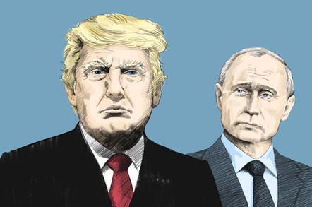 Donald Trump and Vlad Putin